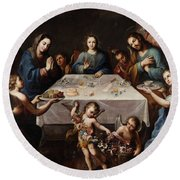 The Blessing Of The Table Round Beach Towel