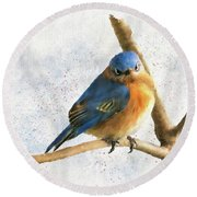 The Bluebird Of Unhappiness Round Beach Towel