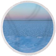 Round Beach Towel featuring the photograph The Blues Of Winter by Rod Best