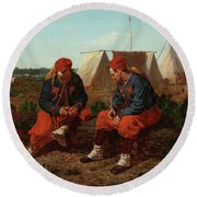 The Brierwood Pipe, 1864 Round Beach Towel
