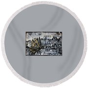 The Butterfly Affect Round Beach Towel
