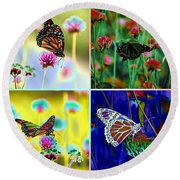 The Butterfly Collection 1. Round Beach Towel