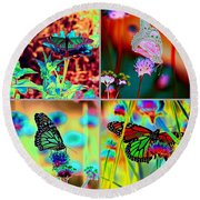The Butterfly Collection 2 Round Beach Towel