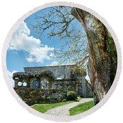 The Castle Of Villamarin Round Beach Towel