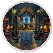 The Cathedral Church Of Saints Asaph And Cyndeym Round Beach Towel