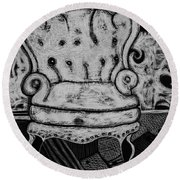 The Chair. Round Beach Towel