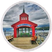 Round Beach Towel featuring the photograph The Charm Of Seneca Lake - Finger Lakes, New York by Lynn Bauer