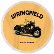 The Chief 1946 Round Beach Towel