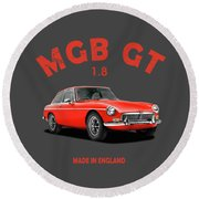 The Classic Mgb Gt Round Beach Towel