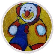 The Clown Round Beach Towel