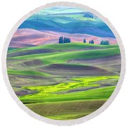 The Color Palette Of The Palouse Round Beach Towel