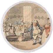The Comforts Of Bath - The Breakfast Round Beach Towel