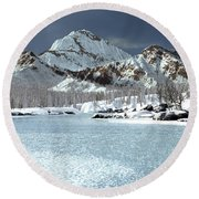 The Courtship Of Ice Round Beach Towel