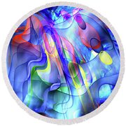 The Dance Of Color Round Beach Towel