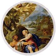 'the Death Of Centaur Nessus', Ca. 1697, Italian School, Oil On Canvas, 114 Cm X... Round Beach Towel