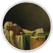 The Death Of Marat, 1793 Round Beach Towel
