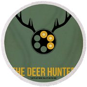 The Deer Hunter Round Beach Towel