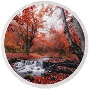 The Delights Of Late Autumn Round Beach Towel