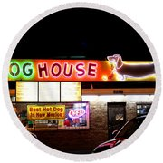 The Dog House Drive-in, Albuquerque Round Beach Towel