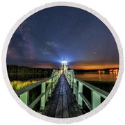 The Doubling Point Lighthouse Round Beach Towel