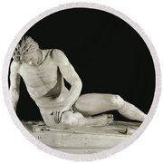 The Dying Gaul Sculpture Round Beach Towel