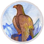 The Eagle Round Beach Towel
