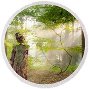 The Enchanted Forrest Round Beach Towel