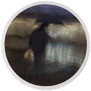 Round Beach Towel featuring the photograph The End Of A Long Day by Alex Lapidus