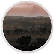 The English Landscape Round Beach Towel