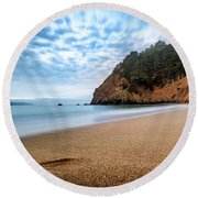 Round Beach Towel featuring the photograph The Escape- by JD Mims