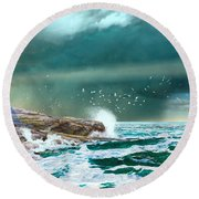 The Eye Of Neptune Round Beach Towel