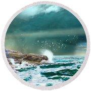 The Eye Of Neptune Round Beach Towel