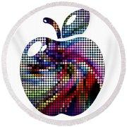 The Famous Big Apple Still Life  48x48 Round Beach Towel