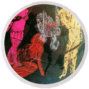The Fates Are Emerging Round Beach Towel