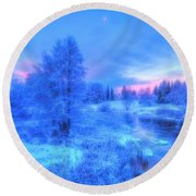 The First Snow 2 Round Beach Towel
