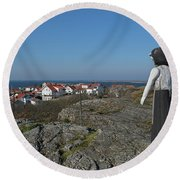 The Fisherman's Wife Round Beach Towel