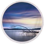 The Floating Tree Round Beach Towel