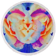 The Flower King Round Beach Towel