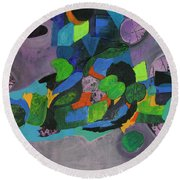 The Force Of Nature Round Beach Towel