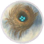 The Four Sisters Round Beach Towel