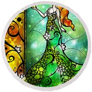 The Frog Prince Round Beach Towel