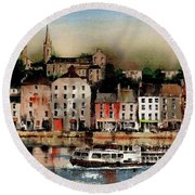 The Galley Off New Ross, Wexford Round Beach Towel