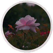 The Glowing Rose Round Beach Towel