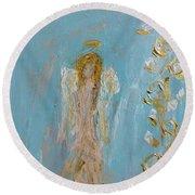 The Golden Child Angel Round Beach Towel