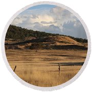 Round Beach Towel featuring the photograph The Golden Hour In Utah by Colleen Cornelius