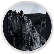 Round Beach Towel featuring the photograph The Grand Canyon Of The Yellowstone by Pete Federico