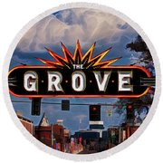 The Grove Round Beach Towel
