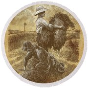 The Harvesters Round Beach Towel