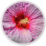 The Hibiscus Flower Round Beach Towel