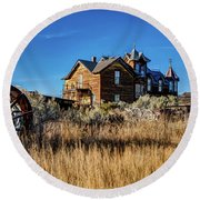 Round Beach Towel featuring the photograph The House by Pete Federico